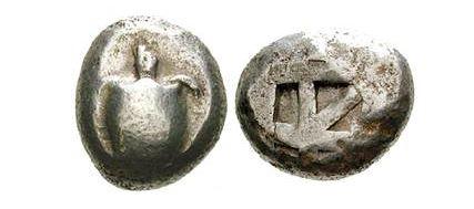Prvá guľatá minca – Korytnačka z Holubieho ostrova