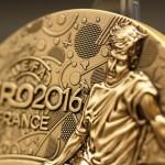 Bronzová medaila UEFA 2016 pamätná medaila na EURO 2016
