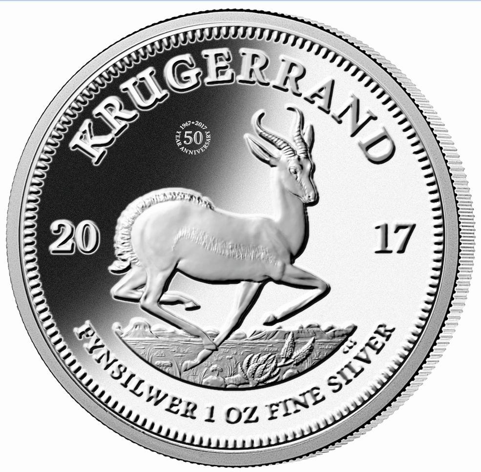 553094789 Najstaršia investičná minca sveta oslávila 50. výročie vo veľkom štýle –  tento rok po prvýkrát vyrazila Krugerrand z 1 unce rýdzeho striebra!