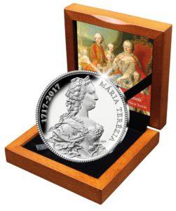 Ražba dňa - strieborná mince k 300. výročie Marie Terézie.
